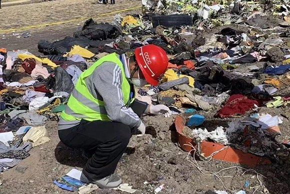 埃塞墜機搜尋工作繼續,中國遇難者的存摺被發現